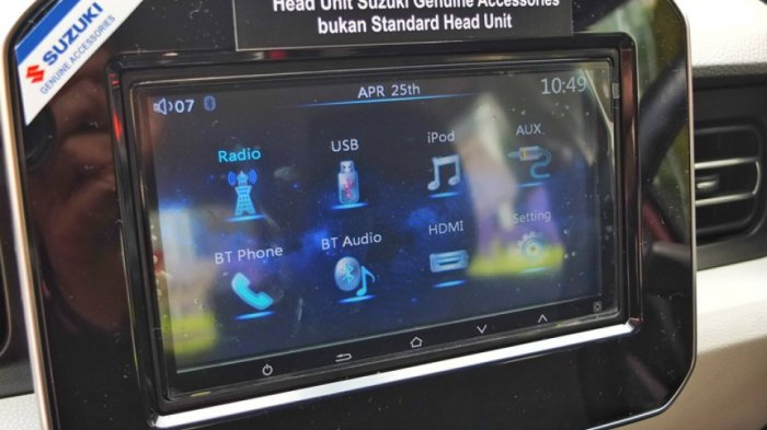 Head Unit Monitor Suzuki Ignis