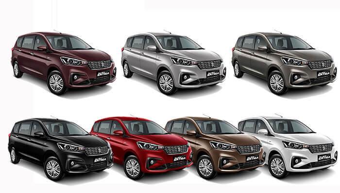 Pilihan Warna Suzuki All New Ertiga 2018